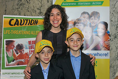 Stacey Saiontz with her sons Jared and Elliott