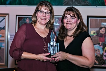 left to right: Amy Wagner & Joy Leinenbach w/ RTC award