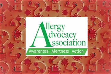 Allergy Advocacy Association Logo Covid-19 Question Marks