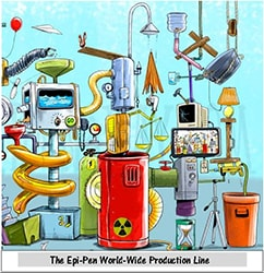EpiPen World Wide Production Line cartoon