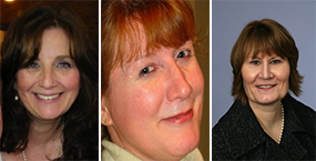 Susan McCarthy, Evelyn Ouellette and Virginia Riggall