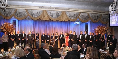 People on stage at FARE 20th Anniversary Food Allergy Ball