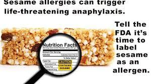 Sesame Label Warning Jan, 2021