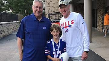 Left to right: Terry Pegula, Jared Saiontz, Sean McDermott