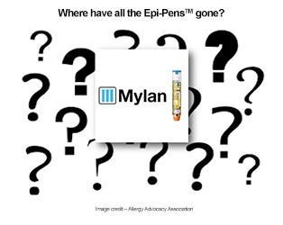 Where have all the Epi-Pens gone?/Image credit: Allergy Advocacy Association