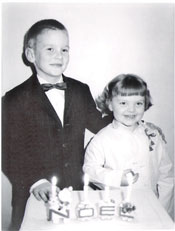 Ruthie and Jon Terry childhood picture